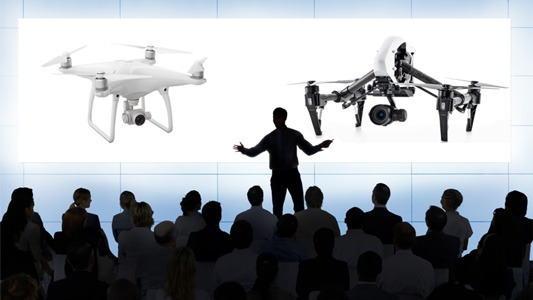 Presentation: DJI Phantom 4, DJi Inspire 1 RAW, DJI Focus