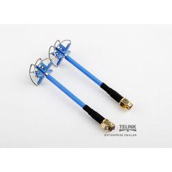 AOMWAY 5.8G Circular Polarized Antenna Pair - SMA, plug, modrá