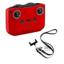 MAVIC AIR 2 - Silikonová ochrana vysílače + popruh vysílače (Red)